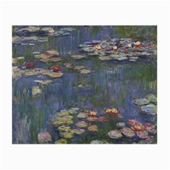 Claude Monet   Water Lilies Small Glasses Cloth (2 Side)