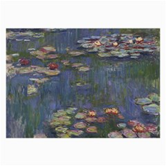 Claude Monet   Water Lilies Large Glasses Cloth