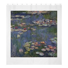 Claude Monet   Water Lilies Shower Curtain 66  x 72  (Large)