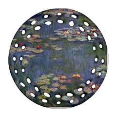 Claude Monet   Water Lilies Round Filigree Ornament (2Side)