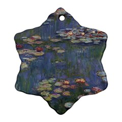 Claude Monet   Water Lilies Snowflake Ornament (2-Side)