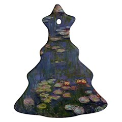 Claude Monet   Water Lilies Christmas Tree Ornament (2 Sides)