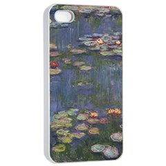 Claude Monet   Water Lilies Apple iPhone 4/4s Seamless Case (White)