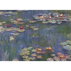 Claude Monet   Water Lilies Birthday Cake 3D Greeting Card (7x5)