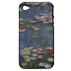 Claude Monet   Water Lilies Apple Iphone 4/4s Hardshell Case (pc+silicone)