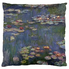 Claude Monet   Water Lilies Large Flano Cushion Cases (One Side)