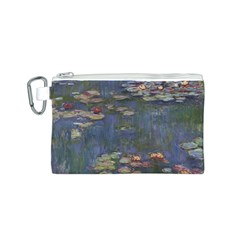 Claude Monet   Water Lilies Canvas Cosmetic Bag (S)