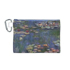 Claude Monet   Water Lilies Canvas Cosmetic Bag (M)
