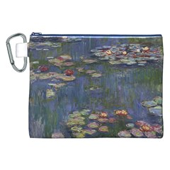 Claude Monet   Water Lilies Canvas Cosmetic Bag (XXL)