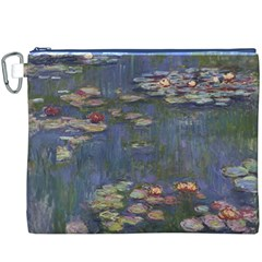 Claude Monet   Water Lilies Canvas Cosmetic Bag (XXXL)