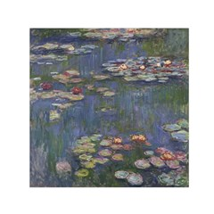 Claude Monet   Water Lilies Small Satin Scarf (Square)