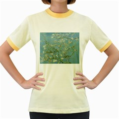 Almond Blossom Tree Women s Fitted Ringer T-Shirts