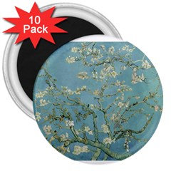 Almond Blossom Tree 3  Magnets (10 Pack)