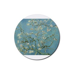 Almond Blossom Tree Rubber Round Coaster (4 Pack)