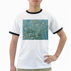 Almond Blossom Tree Ringer T Shirts