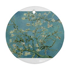 Almond Blossom Tree Round Ornament (two Sides)