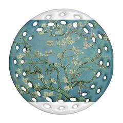 Almond Blossom Tree Round Filigree Ornament (2Side)