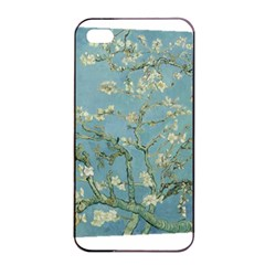 Almond Blossom Tree Apple iPhone 4/4s Seamless Case (Black)