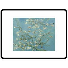 Almond Blossom Tree Double Sided Fleece Blanket (large)