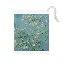 Almond Blossom Tree Drawstring Pouches (large)