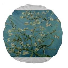 Almond Blossom Tree Large 18  Premium Flano Round Cushions
