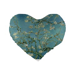 Almond Blossom Tree Standard 16  Premium Flano Heart Shape Cushions