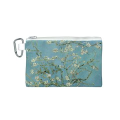 Almond Blossom Tree Canvas Cosmetic Bag (S)