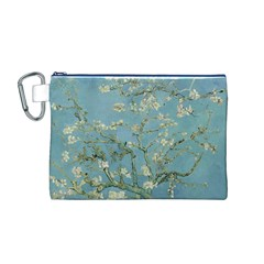 Almond Blossom Tree Canvas Cosmetic Bag (M)