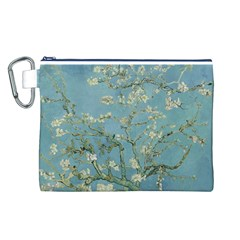 Almond Blossom Tree Canvas Cosmetic Bag (L)