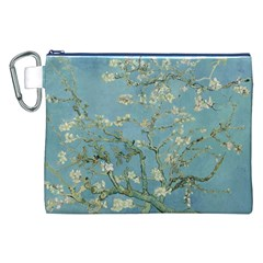 Almond Blossom Tree Canvas Cosmetic Bag (XXL)
