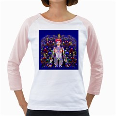 Robot Butterfly Girly Raglans