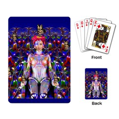 Robot Butterfly Playing Card
