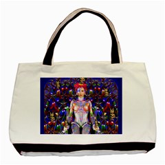 Robot Butterfly Basic Tote Bag