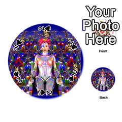 Robot Butterfly Playing Cards 54 (Round)