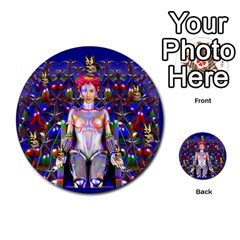 Robot Butterfly Multi Purpose Cards (round)