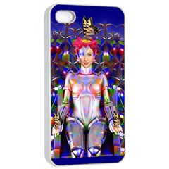 Robot Butterfly Apple iPhone 4/4s Seamless Case (White)