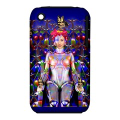 Robot Butterfly Apple Iphone 3g/3gs Hardshell Case (pc+silicone)