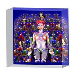 Robot Butterfly 5  x 5  Acrylic Photo Blocks