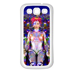 Robot Butterfly Samsung Galaxy S3 Back Case (white)