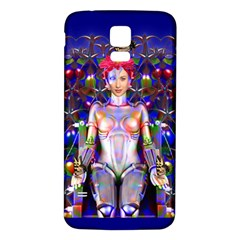 Robot Butterfly Samsung Galaxy S5 Back Case (White)