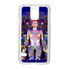 Robot Butterfly Samsung Galaxy S5 Case (white)