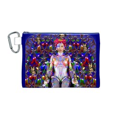 Robot Butterfly Canvas Cosmetic Bag (m)