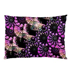 Hippy Fractal Spiral Stacks Pillow Cases (two Sides)