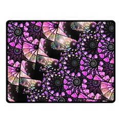 Hippy Fractal Spiral Stacks Double Sided Fleece Blanket (Small)