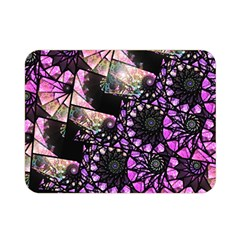 Hippy Fractal Spiral Stacks Double Sided Flano Blanket (Mini)