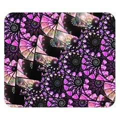 Hippy Fractal Spiral Stacks Double Sided Flano Blanket (small)