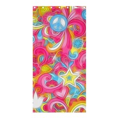 Hippy Peace Swirls Shower Curtain 36  x 72  (Stall)