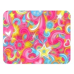 Hippy Peace Swirls Double Sided Flano Blanket (Large)