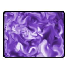Lavender Smoke Swirls Double Sided Fleece Blanket (small)