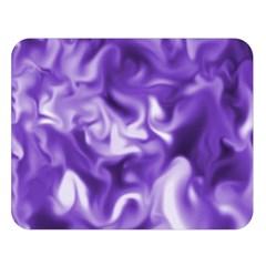 Lavender Smoke Swirls Double Sided Flano Blanket (large)